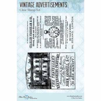 Blue Fern Studios Clearstamp Vintage Advertisement