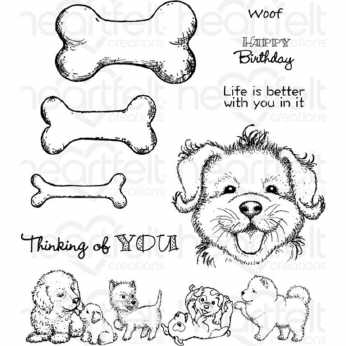 Heartfelt Creations Stempel Paw-Fect Pooches