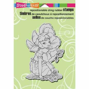 Stampendous Cling Lily Cross