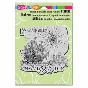 Stampendous Cling Carte Postale