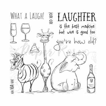 Paper Rose Clear Stamps Laughing Animals