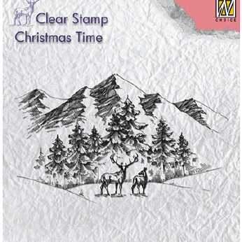 Nellie´s Choice Clearstamp Winterlandscape & Deer