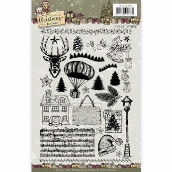 Yvonne Creations Clearstamp Celebrating XMas