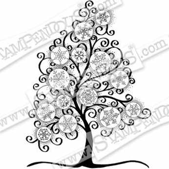 Stampendous Cling Snowflake Tree