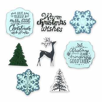 Sizzix Framelits/Stamps Christmas is here