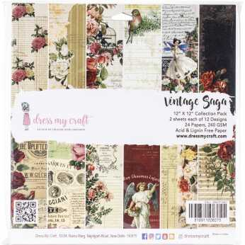 Dress my Craft Collection Pack Vintage Saga