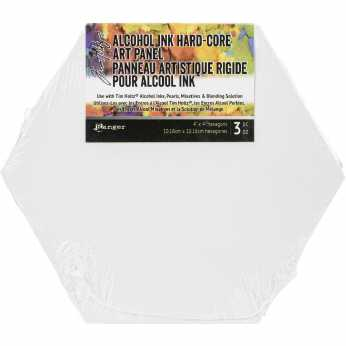 Tim Holtz Alcohol Ink Hard-Core Art Panel Hexagon