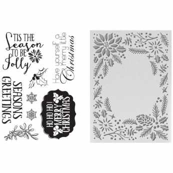 Couture Creations Embossing Folder & Stamp Set