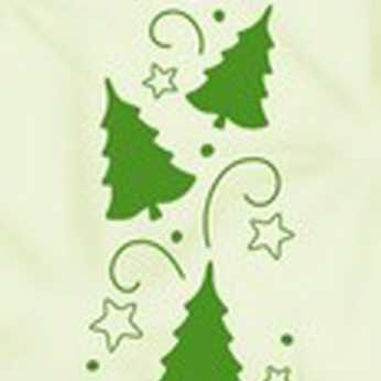 Embossingfolder Border Christmas Trees