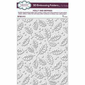 3D Embossing Folder Holly and Berries