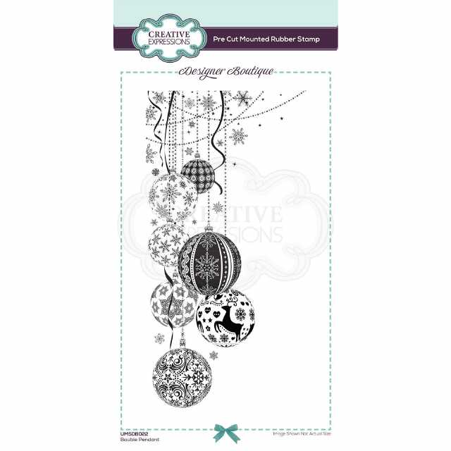 Creative Expressions Stempel Bauble Pendant