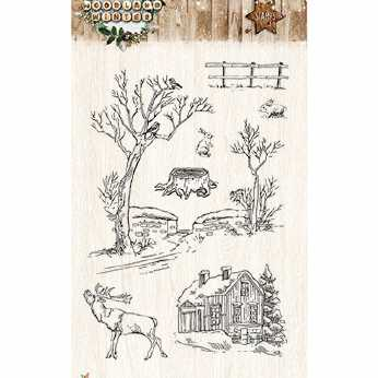 StudioLight Clearstamps Woodland Winter