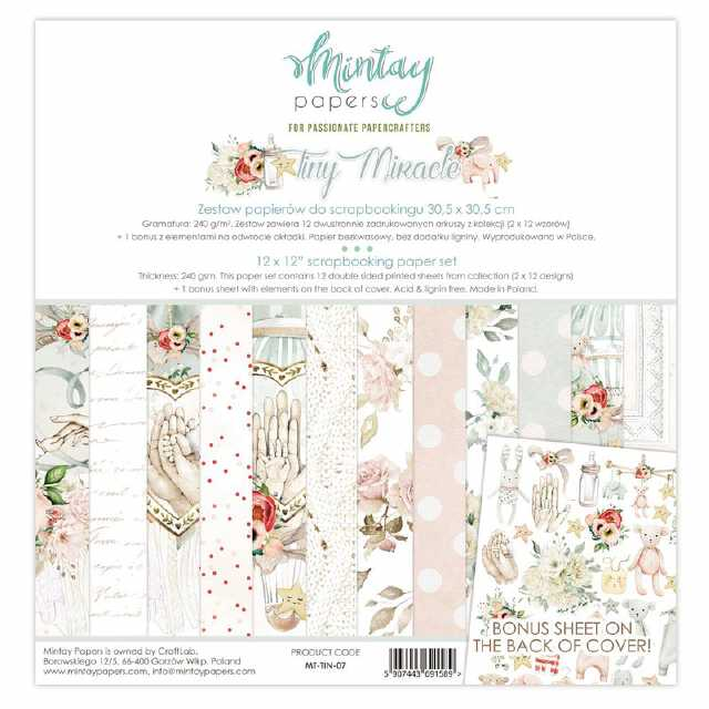 Mintay Papers - Paper Pad Tiny Miracle 12x12""
