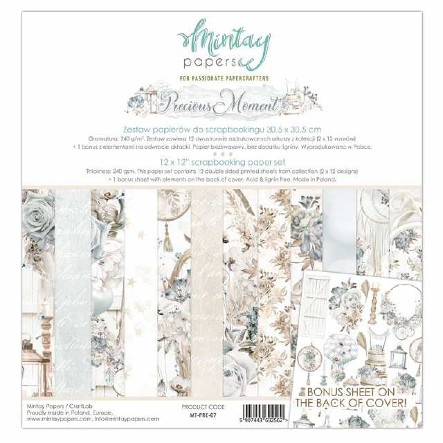 Mintay Papers - Paper Pad Precious Moment 12x12""