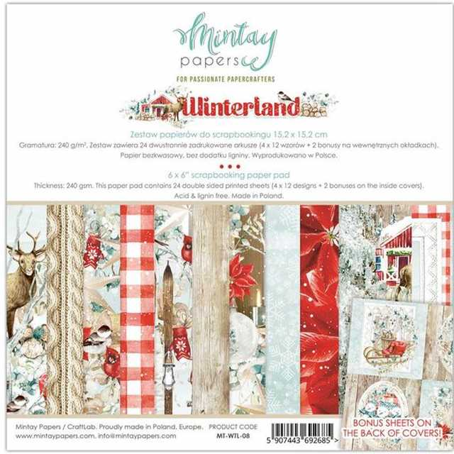 Mintay Papers - Paper Pad Winterland 6x6""