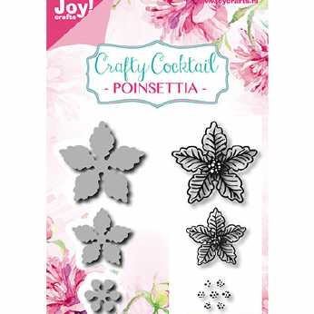 Joy Crafts Stanzen- und Stempelset Poinsettia