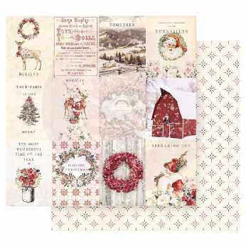 Prima Scrapbookingpapier Christmas Joy