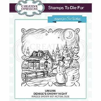 Creative Expressions Stempel Snowy Night