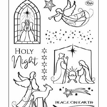 Viva Decor Silikonstempel Holy Night