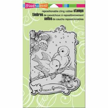Stampendous Cling Birdie Greetings