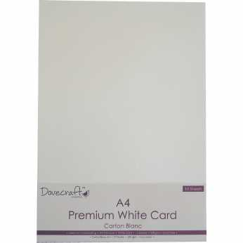 Dovecraft A4 Premium White Card 240 gsm