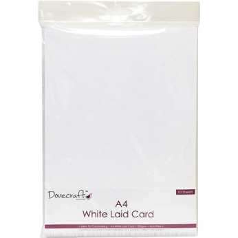 Dovecraft A4 White Laid Card 220 gsm